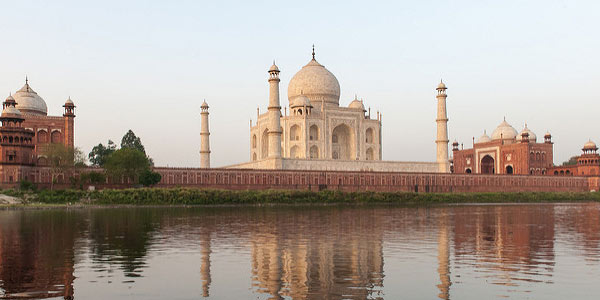 Taj Mahal view from the river